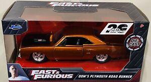 Jada Fast & Furious Dom's Plymouth Road Runner 1/32 die cast Car