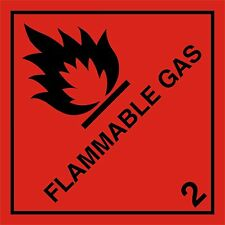 FLAMMABLE GAS HAZARD WARNING MAGNETIC CAR VAN CAMPER VEHICLE SIGN 100MM X 100Mm