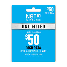 PRELOADED🔥Net 10 SIM CARD $50.00 Plan  On *AT&T Network* ONE MONTH INCLUDED