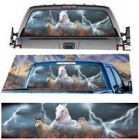 Weiß Running Horse Steed Aufkleber Aufkleber für LKW Jeep SUV Pickup Heckscheibe