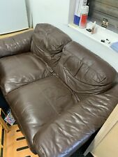 2 Seater Faux leather sofas X 2