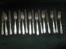 4 Modern Design French Silverplate Fish Cutlery Set 24p Christofle Vendome Pattern Shell