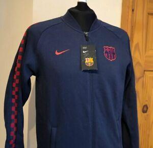 Nike FC Barcelona Fleece Track Jacket (AT4434 451) Size Small Barca