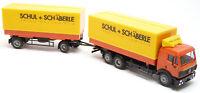 AWM AMW MB SK Wechselpritschen Hängerzug Schul + Schäberle Stuttgart 1:87 H0