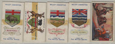 Lot of 4 Will's cigarettes cards: Peace Treaty, ON, AB, BC, MB (P178)