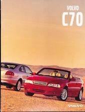 2000 Volvo C70 28-page Original Car Sales Brochure Catalog - Convertible Coupe