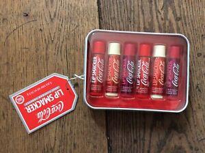 BNIB New Sealed Lip Smacker Coca Cola Coke 6 Lip Balm Tin Gift Set