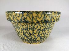 Vintage Robinson Ransbottom Spongeware Mixing Bowl Yellow Ware Older Mark