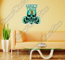 "Lucky One 13 Skull Death Gift Idea Wall Sticker Room Interior Decor 20""X25"""