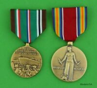 WWII European African Middle Eastern Campaign & Victory Medals - WW2 ETO & WWIIV