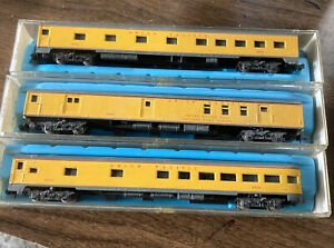 N Scale Atlas Union Pacific Pass Cars 2631,2632,2634 ,85.