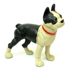 "Large full-bodied Dog doorstop Cast Iron Bulldog Boston Terrier Measures 9.5x9"""