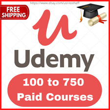 Udemy Account 📚 100 to 750 Paid Courses 📚 Fast Delivery, 🔥 online courses
