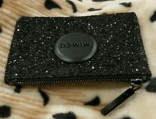 Mimco Matte Black Tiny Sparks Fly Sparkle Pouch Clutch Wallet Purse small BNWT