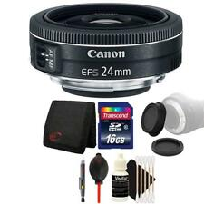 Canon EF-S 24mm f/2.8 STM Lens with 16GB Accessory Kit For Canon DSLR Cameras