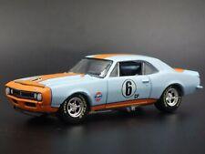 1967 67 CHEVY CHEVROLET CAMARO GULF RACING 1:64 SCALE DIORAMA DIECAST MODEL CAR
