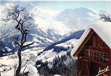 BF1031 saint gervais vieux chalet face au massif du mont blanc   France