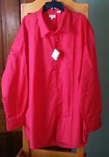 """NEW▪Men's GIOBERTI Dress Shirt 5XL 58"""" Chest 19"""" Neck Classic Fit Red NWT"""