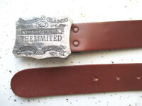 """THE LIMITED mens belt brown GENUINE LEATHER men's fits waist 31"""" 32"""" 33"""" 34"""" 35"""""""
