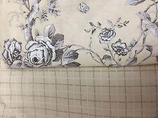 Ralph Lauren Queen Black Cream Radcliff Check Bed Skirt & Pair Floral Rose Shams