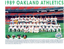 1989 OAKLAND ATHLETICS A'S 8X10 TEAM PHOTO BASEBALL WORLD CHAMPIONS