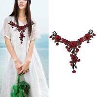 Heiß Stoff Kleidung Dekor Nähen Stickapplikationen Blumenaufnäher DIY