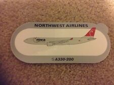 Official Airbus Sticker:  Northwest Airlines A330- 200 Last Color