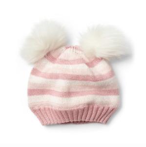 BABY GAP GIRL HAT Crazy stripe pom-pom xs small medium large NWT n7 NNN