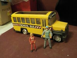 VINTAGE 1981 BUDDY L SCHOOL BUS WITH DRIVER AND CHILD