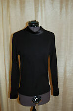 Oscalito Black  Collared Wool/Silk Sweater Top Size 4 Made in Italy