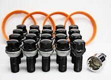 M14X1.5 WOBBLE BOLTS BLACK + LOCKERS + 60.1 - 57.1 RINGS
