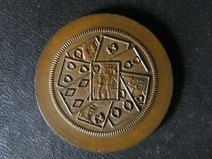 Breton 572 Playing Cards token Canada Montreal Quebec Copper