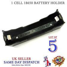 5x hágalo usted mismo 18650 Li-Po Batería Celular Soporte de plástico caso de PCB 3.7V 3.6V 4.2V Caja
