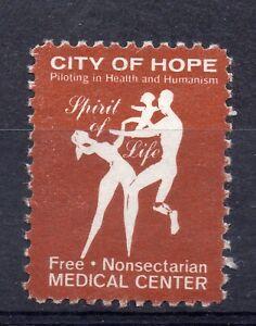 """USA = CINDERELLA - """"City of Hope Medical Center"""", Unused No Gum. No idea! (a)"""