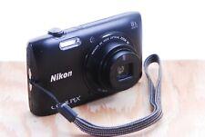 Nikon CoolPix S3600 Digital Camera - 20.1MP, 8x Wide Zoom, VR, Internal Dust