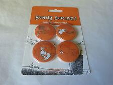BUNNY SUICIDES - Lot de 4 badges !!!!!!!!!!!!