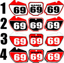 Number plates side panels graphic decals for 1997-1999 Honda CR250 CR 250