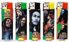 Briquet BOB MARLEY - Lot de 5 - Electronique et Rechargeable (Rasta, Reggae)