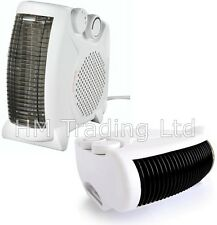 Fine Element Electric Silent Fan Heater Portable Hot Cool Air Upright Flat Bed