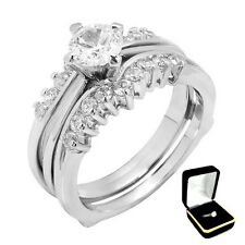 Wedding Rings Set Size 6,7,8,9,10 W/Box 2.10Ctw Brilliant Cut Stone - Solitaire