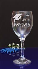 Personalised Engraved Graduate Wine Glass University Occasion  78