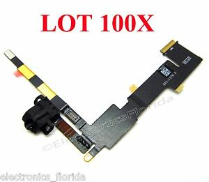 Lot 100x Replacement Audio Jack Flex Cable For Apple WIFI CDMA iPad 2 b214