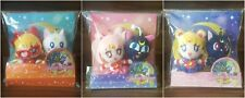 3x Sailor Moon Plush Luna P Artemis Chibi Sailor V Mascot Plush Doll Set Rare