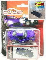 Majorette Nissan GT-R GTR R35 Satin Purple no. 7 Deluxe Cars 1:61 214G
