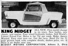 Old Print. 1957-8 King Midget Car Advertisement