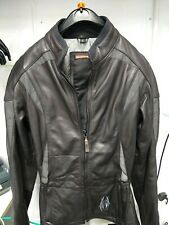Ladies Size 10 Richa Leather Jacket With Shoulder Pads