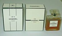 Vintage Perfume Bottle Chanel No 5 Bottle/Box Post 1951 1/2 OZ Sealed 3/4 Full