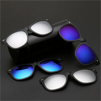 New Driving Polarized Mirrored Clip-on Fashion Glasses Flip-up Sunglasses UV400