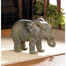 NEW Large ELEPHANT STATUE ACCENT SAFARI ANIMAL INDOOR OUTDOOR DECOR 10017916