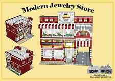 Custom instruction, consisting of LEGO elements - Modern Jewelry Store
